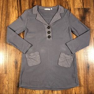 Soft Surroundings Gray Tunic waffle fabric M
